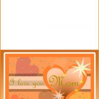 Printable Orange Hearts Mother's Day Card - Printable Mothers Day Cards - Free Printable Cards