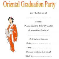 Oriental Graduation Party Invitation