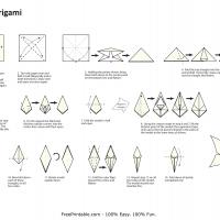Printable Origami- Lily - Paper Crafts - Free Printable Crafts