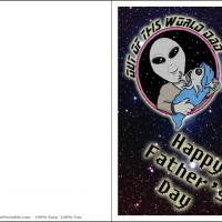 Printable Out Of This World Dad - Printable Fathers Day Cards - Free Printable Cards