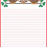 Printable Owl Family Stationary - Printable Stationary - Free Printable Activities
