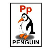 Printable P is for Penguin Flash Card - Printable Flash Cards - Free Printable Lessons