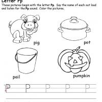 Printable P Beginning Consonant - Printable Preschool Worksheets - Free Printable Worksheets