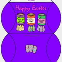 Printable Paint the Easter Eggs Bag - Printable Party Supplies - Misc Printables
