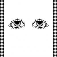 Pair of Eyes Flash Card