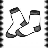 Printable Pair of Socks Flash Card - Printable Flash Cards - Free Printable Lessons