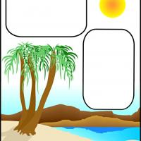 Printable Palm Beach Scrapbook Cover - Printable Scrapbook - Free Printable Crafts