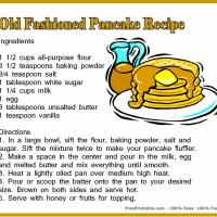 Printable Pancake Recipe - Printable Recipes - Free Printable Activities