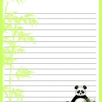 Printable Panda and Bamboo Stationary - Printable Stationary - Free Printable Activities