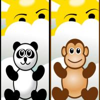 Panda and Monkey Bookmarks