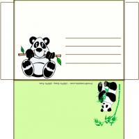 Printable Panda Envelope - Printable Card Maker - Free Printable Cards
