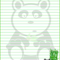 Printable Panda  Stationary - Printable Stationary - Free Printable Activities