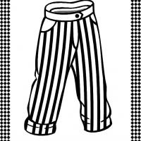 Printable Pants/Trousers Flash Card - Printable Flash Cards - Free Printable Lessons