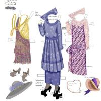 1920s Paper Doll Dress 5