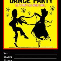 Party and Dancing Hazard Invitation