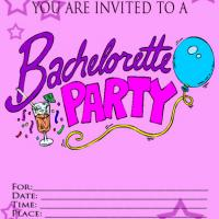 Glitter Bachelorette Party Invitation