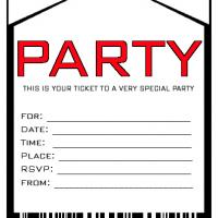 Printable Party Invitation Envelope - Printable Party Invitation Cards - Free Printable Invitations
