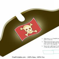 Printable Pirate Hat - Printable Party Supplies - Misc Printables