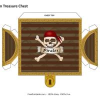 Printable Pirate Treasure Chest - Printable Party Supplies - Misc Printables