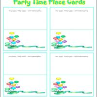 Printable Party Time Place Cards - Printable Place Cards - Free Printable Cards