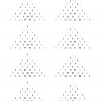 Printable Pascal's Triangle - Printable Paper - Misc Printables