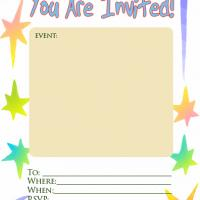 Printable Pastel Stars Invitation - Printable Party Invitation Cards - Free Printable Invitations
