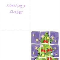 Printable Patched Christmas Tree - Printable Christmas Cards - Free Printable Cards