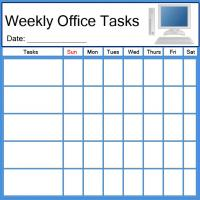 Printable PC Office Task List - Printable Chore Charts - Free Printable Activities