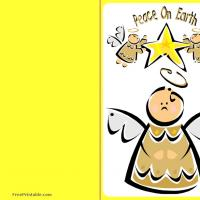 Printable Peace on Earth - Printable Christmas Cards - Free Printable Cards