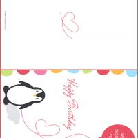 penguin birthday card, Birthday card