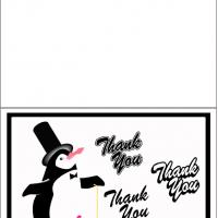 Printable Penguin Thank You Card - Printable Thank You Cards - Free Printable Cards