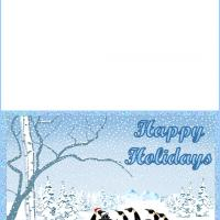 Printable Penguins Holiday - Printable Christmas Cards - Free Printable Cards