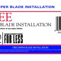 Pepboys Free Wiper Blade Installation