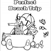 Printable Perfect Beach Trip - Printable Coloring Sheets - Free Printable Coloring Pages