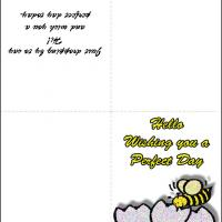 Printable Perfect Day Card - Printable Greeting Cards - Free Printable Cards