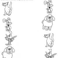 Printable Pets Like Recognition - Printable Preschool Worksheets - Free Printable Worksheets