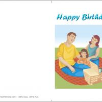 Printable Picnic Birthday - Printable Birthday Cards - Free Printable Cards