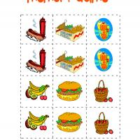 Picnic Food Memory Game