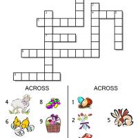 Picture Easter Crossword for Kids