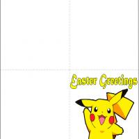 Printable Pikachu Easter Card - Printable Easter Cards - Free Printable Cards