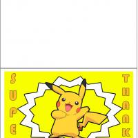 Printable Pikachu's Big Thank You - Printable Thank You Cards - Free Printable Cards