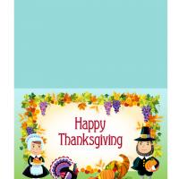 Printable Pilgrims Happy Thanksgiving Greeting Cards - Printable Greeting Cards - Free Printable Cards