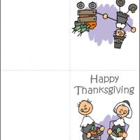 Printable Pilgrims Thanksgiving - Printable Greeting Cards - Free Printable Cards