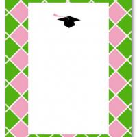 Printable Pink and Green Blank Card Invitation - Printable Graduation Invitations - Free Printable Invitations