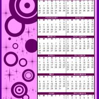 Printable Pink and Purple 2013 Calendar - Printable Yearly Calendar - Free Printable Calendars