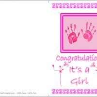 Pink Baby Handprints
