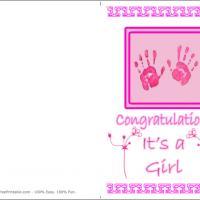 Pink Baby Handprints