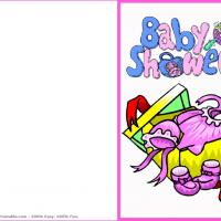 Pink Babyshowers Card