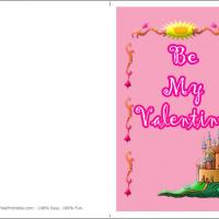Printable Pink Castle Of Love - Printable Valentines - Free Printable Cards
