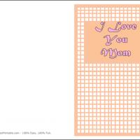 Printable Pink Checkered - Printable Mothers Day Cards - Free Printable Cards
